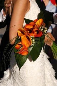 Bruidsboeket oranje