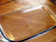 how to etch glass... personalized gift idea
