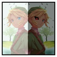 Link, Ben Drowned, dark, light; Creepypasta