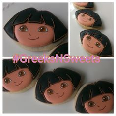Dora the Explorer Cookies.....GreeksNSweets by GreeksNSweets, $26.00
