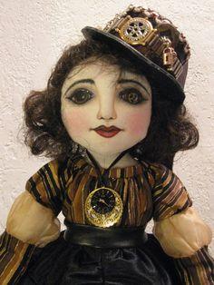 STEAMPUNK ADELINE  Victorian Steampunk Doll. via Etsy.