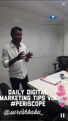 #periscope digital marketing tips by web marketing academy