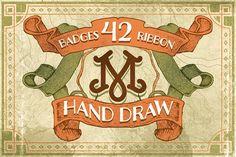 42 Badges & ribbon by maghrib on @creativemarket