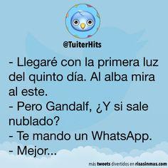 Gandalf te envía un WhatsApp