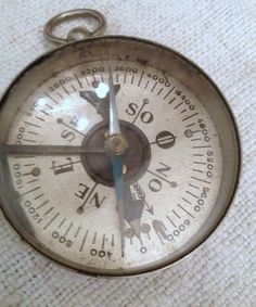 Vintage French Compass FleaingFrance Brocante