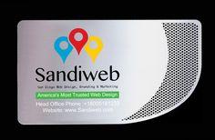 Metal Business Cards in San diego www.sandiweb.com Metal Business Cards, Web Design, Graphic Design, Helping People, Get Started, Branding, Marketing, Logos, San Diego