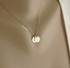 Push Present please with MGS!Two Initial Necklace Two Monogram Jewelry 14k GOLD by JustGifty, $31.00