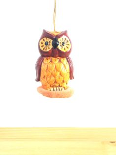 Vintage Owl Sachet / Owl Collectible / 60s Brown by VintageEdition
