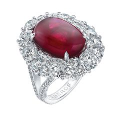 Fabergé Devotion Cabochon Ruby 9.03cts Ring #Fabergé #ruby #ring