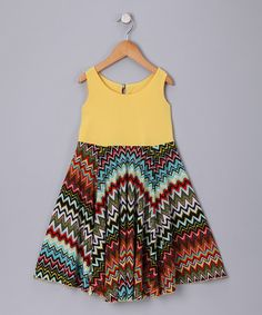 Take a look at this Yellow Dress - Toddler & Girls by PB Couture on #zulily today!