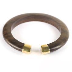 Chocolate cuff natural bangle gold wood brown bracelet by 81stgeneration 81stgeneration. $31.95. .