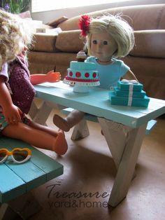 DIY doll picnic table