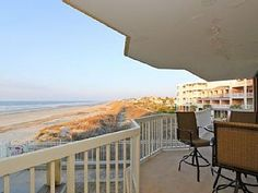 """Flamingo Sunset"" is a gorgeous 4 bedroom/3 bath villa located on the first floor of the Charleston Oceanfront Villas. This newly refinished condo is the perfect place for a relaxing beach getaway. The cool beach ..."