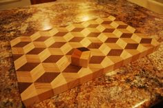 3-D - End Grain - Tumbling Cube Design Cutting Board - Imgur