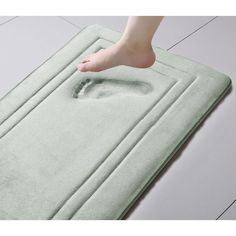 Soft and Plush Off-White Memory Foam Bath Rug with Anti Slip Backing 24x60 Inch #BathRug #MemoryFoam #BathMat #CottonRug #DoorMat #Mat #Rug #SkidResistant #NonSlip #Home #Kitchen #Bathroom #Bath