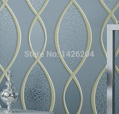 3D ripple bedroom sitting room Thickening non-woven luxury wallpaper roll,TV sofa background Embossed wall papers