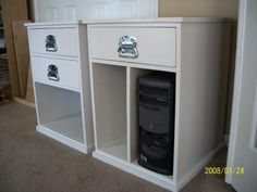 Build Your Own Office - Narrow File Drawer Base Unit (from Ana White) Home Office Furniture, Modular Office, Diy Furniture Plans, Basement House Plans, Modular Desk, Desk Organization, Furniture Plans, Cabinet Design, Diy Desk Plans