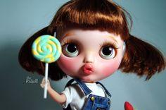 thePJdoll-esaurito Pikachu Personalizzato Blythe Doll/OOAK