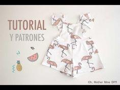 DIY Cómo hacer cubre-pañal con volante (tutorial y patrones) - YouTube