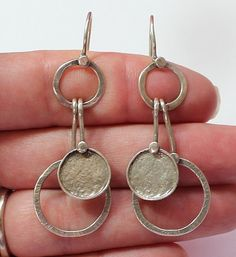 SILPADA SIGNED Sterling Silver 925 Modern Design Dangle or Drop Earrings #Silpada #DropDangle