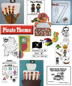 Pirate crafts, activities, folder games, coloring pages, story time, and much more.