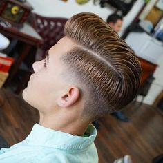 35 Pompadour Fade Haircuts: Modern Styling Tips & Ideas Pompadour Fade with Comb Over and Drop Fade – Pompadour Fade Haircut - Colorful Toupee Hairs Hairstyles For Teenage Guys, Teen Boy Haircuts, Hairstyles Haircuts, Haircuts For Men, Wedding Hairstyles, Pompadour Fade Haircut, Low Fade Haircut, Men's Pompadour, Hard Part Haircut
