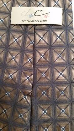NEW Daniel Craig Geometric 100% Silk Multi Color Classic Mens Neck Tie #DanielCraig #NeckTie