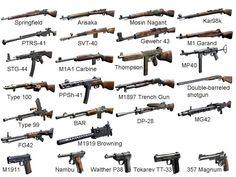 Gewehre und Pistolen WW 2