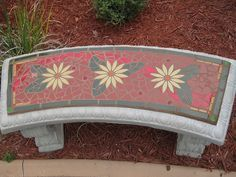 Garden Bench by MosaicSmith (Linda), via Flickr