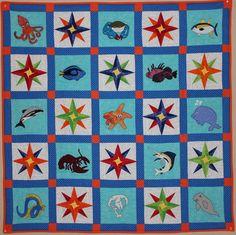d39ed2b29277bd Ocean animal applique PDF quilt pattern Mariner s by MsPDesignsUSA Pattern  Blocks
