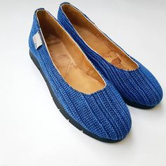 Shoes and shoes again! Handmade Accessories, Hand Weaving, Espadrilles, Flats, Blue, Shoes, Instagram, Art, Fashion