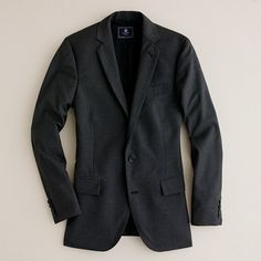 Factory Thompson two-button suit jacket with double-vented back - $260