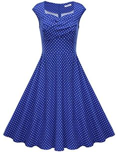 Jiuzhoudeal Women's Polka Dot 1950s Vintage Retro Swing Party Dresses Small Blue Jiuzhoudeal http://smile.amazon.com/dp/B013GH8AW8/ref=cm_sw_r_pi_dp_4maPwb1GK42C8