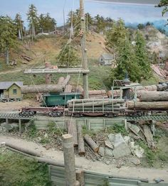 Logging Railroad | Logging Camp and Saw Mill trackside industries | Model Railroad ...