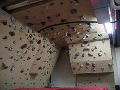 Cool basement bouldering wall