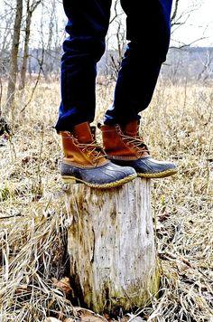 Bean boots & denim.