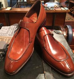 "toboxshoes: "" Split-toe monkstrap in cognac shell cordovan. MTO (at ToBox) """
