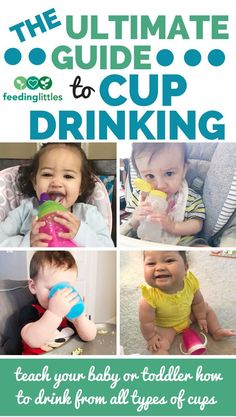 We show you how to offer your baby or toddler an open cup starting at six months. - We show you how to offer your baby or toddler an open cup starting at six months, how to start usin - Baby Feeding Chart, Baby Feeding Schedule, Baby Led Weaning, Starting Solids Baby, Baby Eating, Infancy, Baby Development, Physical Development, Baby Care