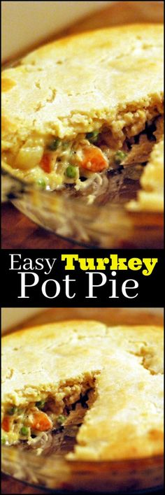 This Easy Turkey Pot Pie is one of our FAVORITE ways to use up that leftover Turkey!  We don't even feel like we are eating leftovers!