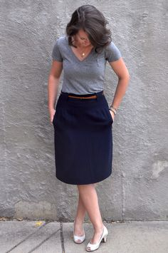 DIY fitted skirt refashion