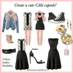 """""""Cute CAbi Capsules"""" by rachelcavanna on Polyvore www.jeanettemurphey.cabionline.com"""