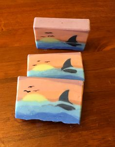 """whale at sunset"" - soap challenge, Sculpted Layers"