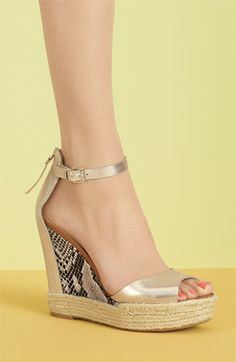 Fun summer wedge sandals!