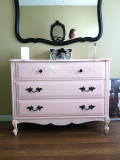 French Mirror And Dresser Makeover