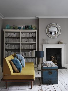 Interior inspiration for a Georgian home - Modern greys & retro pops of colour