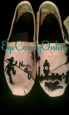 Peter Pan inspired TOMS. $100.00, via Etsy.