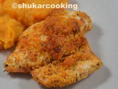pour 4: 4 blancs de poulet 100 g de noix de coco 1 citron vert 1 càs de paprika 2 càs de coriandre surgelée huile d'olive sel Chauffer le four à 220° Découper les filets de poulet en trois ou quatre morceaux. Dans un saladier, mélanger, le paprika, la...