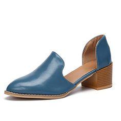 9def743d531 Mocassins Femme Cuir Talon Bas Loafers Ete Chic Chaussures Cheville  Escarpins Femmes Bloc 5cm Mode Casual