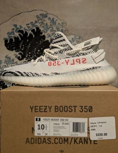 d44cb2788 Details about Adidas Yeezy Boost 350 V2 Men s Running Trainers Shoes -  Zebra. eBay. Fitness ...
