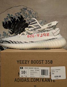d05f7b151f8e0 Adidas Yeezy Boost 350 V2 Zebra - Size 10.5 White Black  adidas   RunningShoes